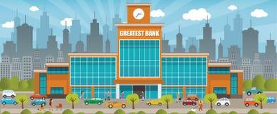 Bank w mieście royalty ilustracja