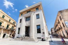 Bank w starym historycznym budynku Obrazy Royalty Free
