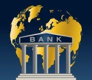 Bank wereldwijd Stock Afbeelding