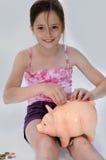 bank świnka dziewczyny Obrazy Stock