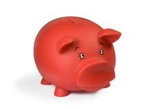 bank świnki czerwony Zdjęcia Royalty Free
