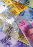 bank wystawia rachunek szwajcara Obrazy Royalty Free