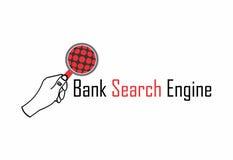 Bank wyszukiwarki logo ilustracja wektor