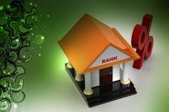 Bank z odsetka znakiem ilustracja wektor