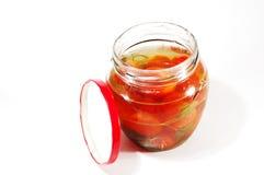 bank zakonserwowany chili pomidory Obraz Royalty Free