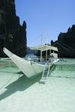 banka小船el nido菲律宾 免版税图库摄影