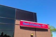 Banka Amerykańskiego budynek i znak Obraz Royalty Free