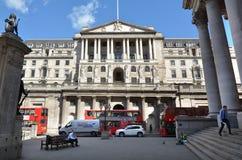 Banka Anglii Środkowy bank Lokuje Anglia UK obrazy royalty free