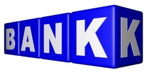 Banka błękita sześciany Obrazy Stock
