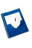 banka błękitny prosiątka szkoły podręcznik Obraz Stock