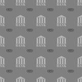 Banka bezszwowy deseniowy tło Zdjęcia Royalty Free
