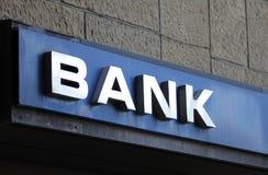 Banka znak Fotografia Royalty Free