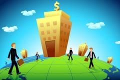banka biznesu idzie mężczyzna ilustracji