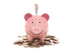 banka brytyjski waluty pieniądze prosiątko Obraz Royalty Free
