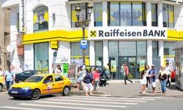 banka Bucharest kwatery główne raiffeisen Obrazy Stock