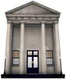 Banka budynek, pieniądze, Inwestujący, Odizolowywający Zdjęcia Royalty Free