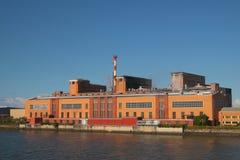 banka budynku młynu papieru rzeka Fotografia Royalty Free