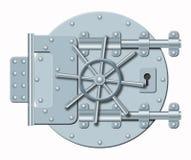 banka depository drzwi stal ilustracja wektor
