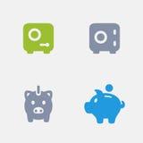 Banka depozyt - Granitowe ikony Fotografia Stock