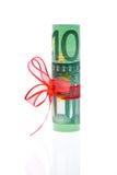 banka euro notatka Fotografia Royalty Free