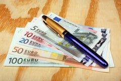 banka euro pięć ostrości sto pieniądze nutowa arkana Obraz Stock