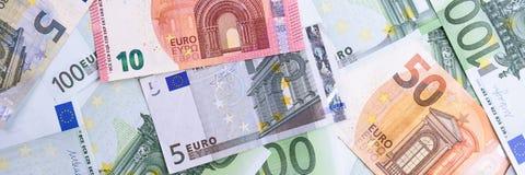 banka euro pięć ostrości sto pieniądze nutowa arkana euro gotówkowy tło Euro pieniędzy banknoty obraz royalty free