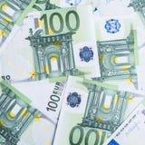 banka euro pięć ostrości sto pieniądze nutowa arkana euro gotówkowy tło Euro pieniędzy banknoty zdjęcia royalty free