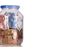 banka euro szkło Zdjęcia Stock