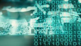 Banka fi cyber ochrona royalty ilustracja
