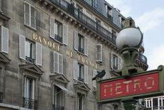banka France metra Paris stacja Zdjęcia Royalty Free