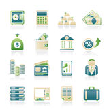 Banka i finanse ikony Zdjęcia Royalty Free