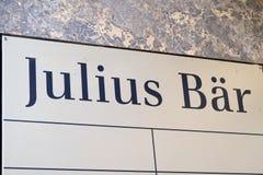 Banka Julius Bär gałąź Zdjęcia Stock