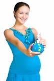 banka mienia prosiątka kobieta w ciąży Fotografia Stock