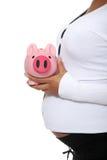 banka mienia prosiątka kobieta w ciąży Zdjęcia Stock