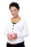 banka mienia prosiątka kobieta w ciąży Zdjęcie Royalty Free