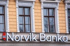 Banka Norvik, главный офис обслуживания клиента в Риге Стоковое Изображение RF