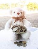 banka pieniądze prosiątka kładzenia oszczędzanie Zdjęcie Stock