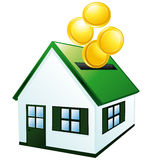 banka prosiątko zielony domowy Obrazy Stock