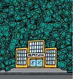 Banka przychodu pieniądze z copyspace Zdjęcia Stock