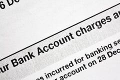 Bankauszug lizenzfreies stockfoto