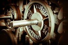 Bankbar en gewichtsplaat royalty-vrije stock afbeelding