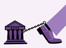 Bankbelemmeringen. stock illustratie