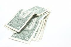 Bankbiljet: één dollar Royalty-vrije Stock Afbeelding