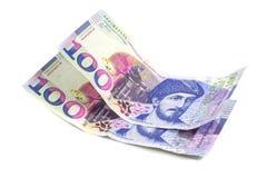 Bankbiljet 100 GEL geïsoleerd Georgië, financiën Royalty-vrije Stock Fotografie
