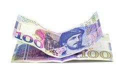 Bankbiljet 100 GEL geïsoleerd Georgië, financiën Stock Foto's