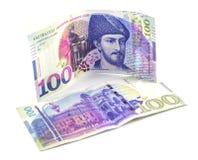 Bankbiljet 100 GEL geïsoleerd Georgië, financiën Stock Foto