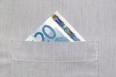Bankbiljet in knoopsgat Royalty-vrije Stock Foto's