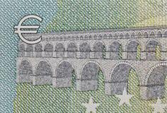 Bankbiljet met Euro symboolclose-up Stock Afbeeldingen