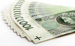 Bankbiljet 100 PLN Stock Fotografie