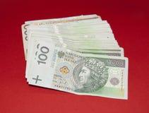 Bankbiljetten 100 PLN Stock Foto